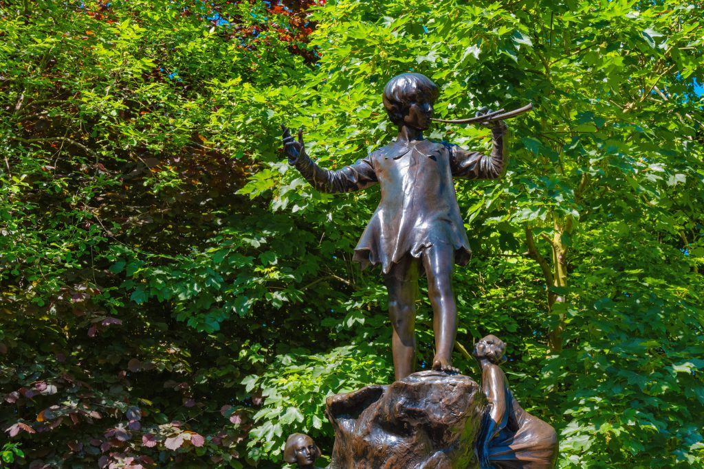 The Peter Pan statue